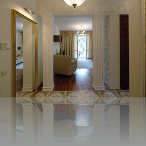 вид в гостиную от входной двери
