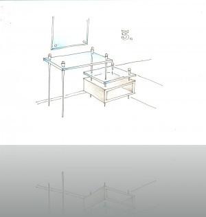 Столик и тумба