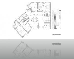 1.Окончательный план с мебелью и экспликацией помещений