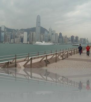 Тим Ша Тсу, на другом берегу- остров Гонконг