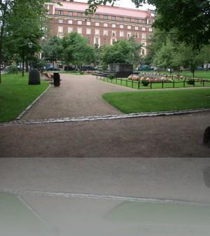 Парки и скверы перетекают один в другой