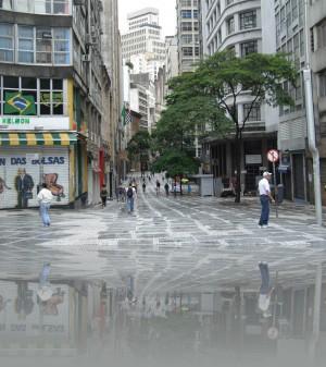 Пешеходная улица в деловом центре