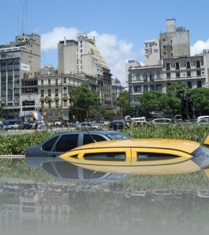 Этот отель (со скатной крышей) - историческое место в судьбе Аргентины