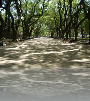 Площадь Сан-Мартин. Сквер