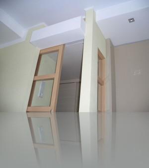 Там не только механизм раздвижной двери, но и антресоль для хранения