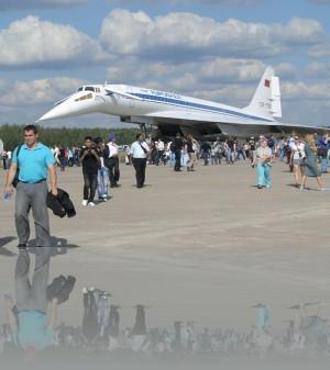 Ту-144. Красивый! Хорошо, что хоть сохранили
