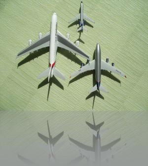 Herpa model. Всё в одном масштабе А-380, Ту-134, Ил-96