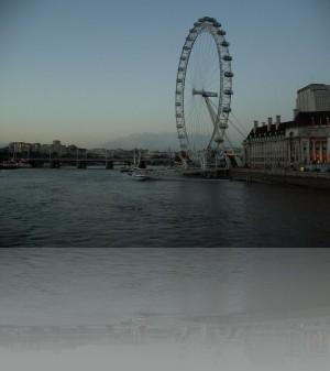 Лондонский Глаз ближе к ночи