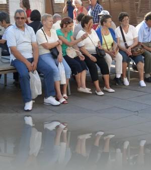 Туристы. Обеспеченная старость позволяет расслабиться в Венеции