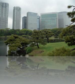 Парк в центре Токио. Вокруг него всё самое дорогое