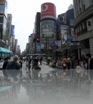 Главный перекрёсток в Токио