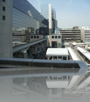 Киото жд вокзал Хара Кодзи. Фасад со стороны города