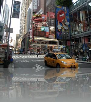 Реклама и жёлтое такси