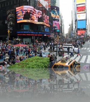 Зелень на Таймс сквер - это нонсенс