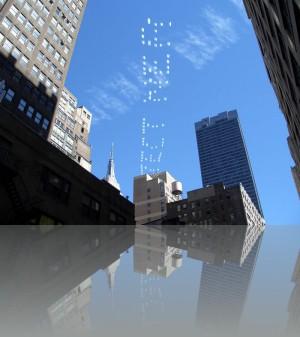 Пукающие по программе самолётики создают слоганы в ньюйоркском небе