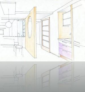 Вход из комнаты в кухню