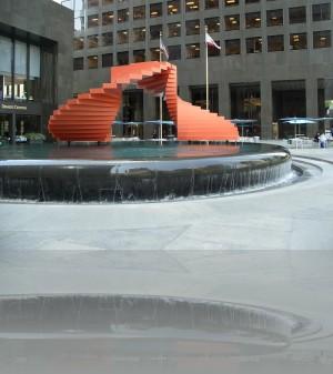 Красно-чёрный фонтан