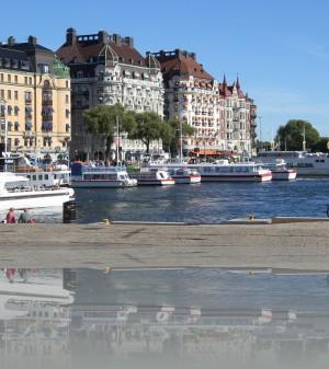 Начало набережной Страндваген