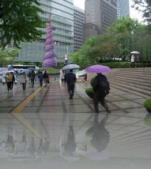 Зелень и всякая абстракция в Сеуле повсюду