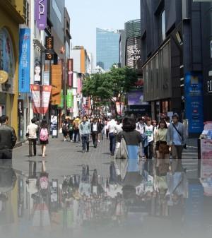 Пешеходно-торгово-молодёжная в районе Myeongdong