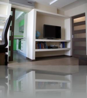 Кухня соединена с комнатой